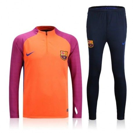 Survetement Barcelone 2016-2017 Orangé Rouge