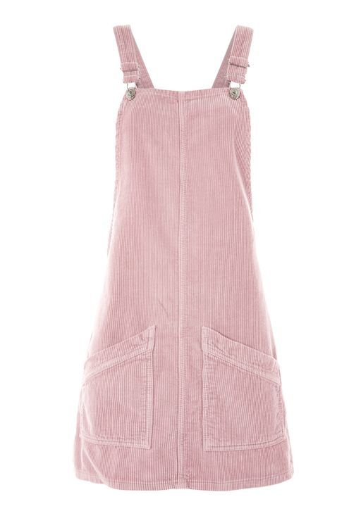 MOTO Cord Pinafore Dress