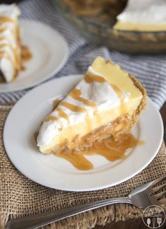 This caramel banana cream pie has a delicious graham cracker crust, followed by a caramel layer, topped by banana pudding and whipped cream for a delicious twist on traditional banana cream pie!