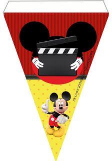 CALLY'S  DESIGN-Kits Personalizados Gratuitos: Kit Aniversário Mickey Mouse