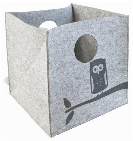 Sne Design, Förvaringskorg, 33 x 33 x 33 cm, Owl, Grey Förvaringslådor, korgar & boxar Spara & förvaring Barnrum på nätet hos Lekmer.se