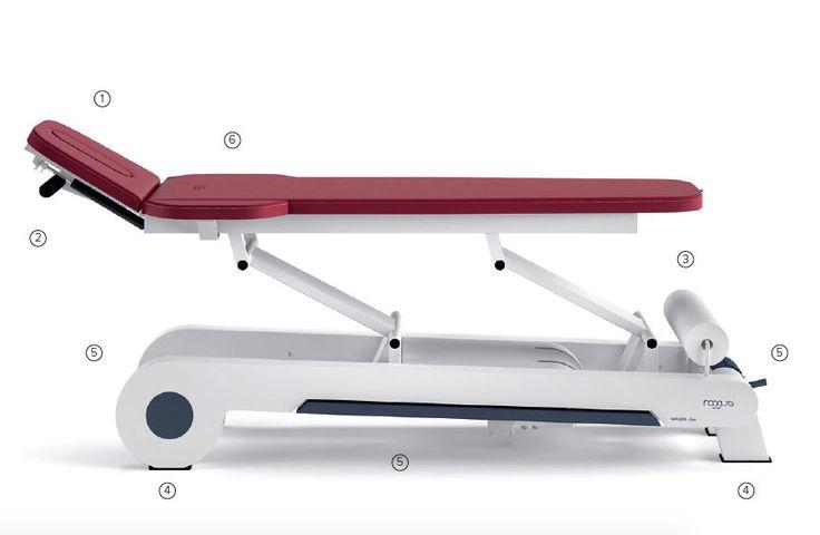 Lettino fisioterapia osteopata elettrico 2 segmenti 1 motore massaggi medicale