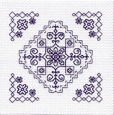 The Garden Mini Blackwork Kit by Holbein Embroideries