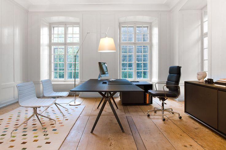 Bureau de direction / contemporain / en bois / en cuir X2 Mobimex