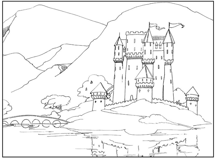 castle coloring page painted backdrop why yes lisa