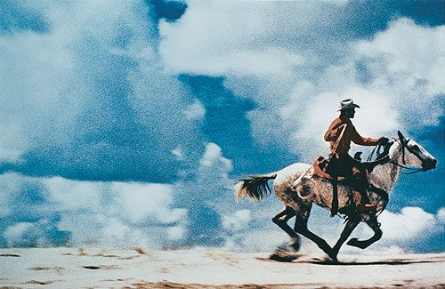"""Prince's picture is a copy (the photograph) of a copy (the advertisement) of a myth (the cowboy)."""""""