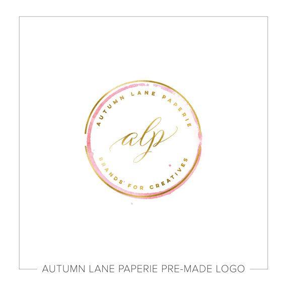 Logo ontwerp premade | Aquarel Logo | Fotografie Logo | Moderne Logo | Watermerk | Etsy Branding | Branding pakket | Shabby Logo | Cirkel