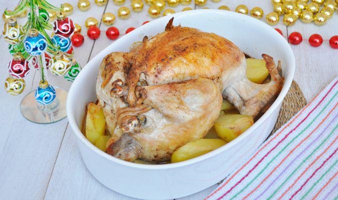 Рецепт курицы, фаршированной к празднику