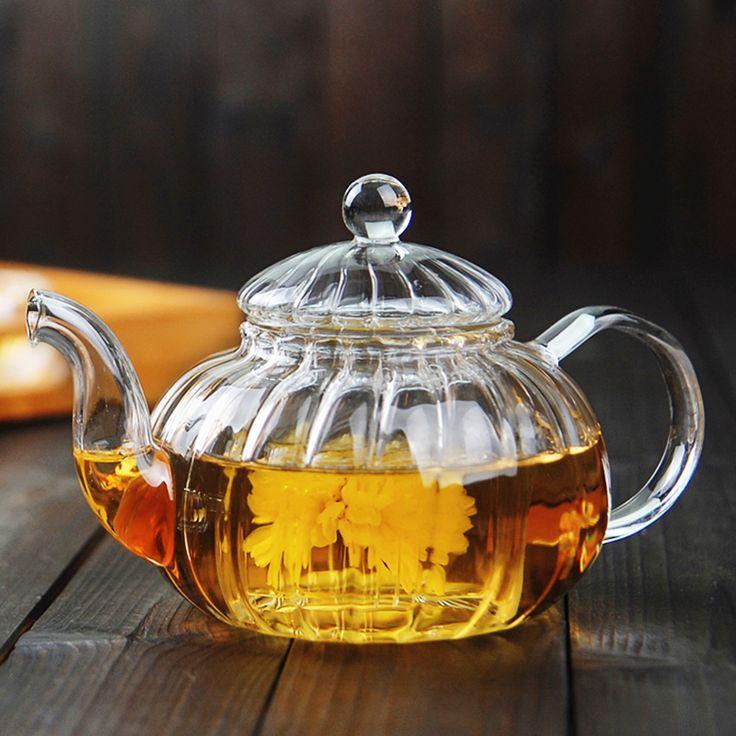 new style pyrex glass teapot with glass strainer