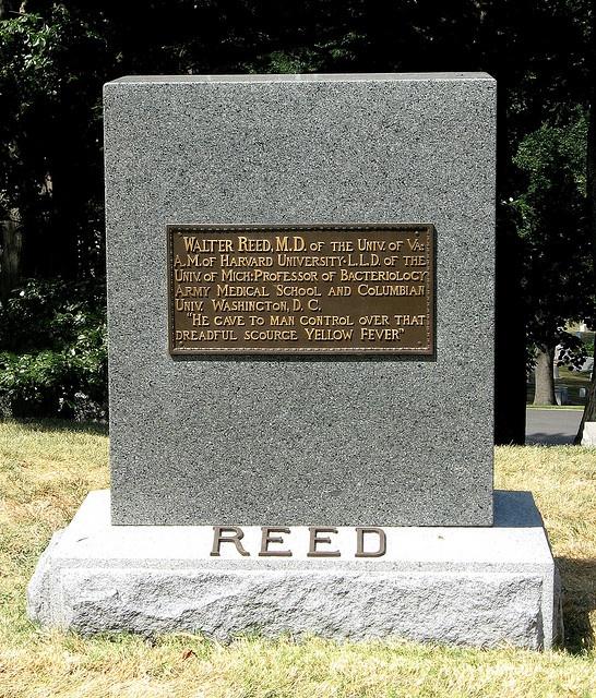 Walter Reed Headstone at Arlington Cemetery