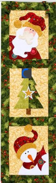 Christmas Trio Wallhanging from Jeri Kelly at KayeWood.com