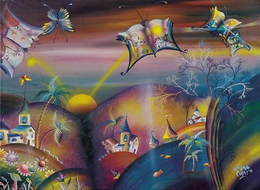 """""""La libertad en pleno vuelo""""     Frágiles mariposas en chispeante búsqueda sin fin. Libros; pensamiento y expresión.   Ellas y ellos, en un tan mágico como reflexivo vuelo hacia la anhelada libertad.   ALEJANDRO COSTAS"""