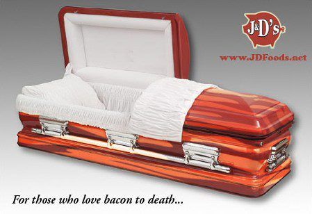 Rest in Grease... your very own Bacon Coffin!