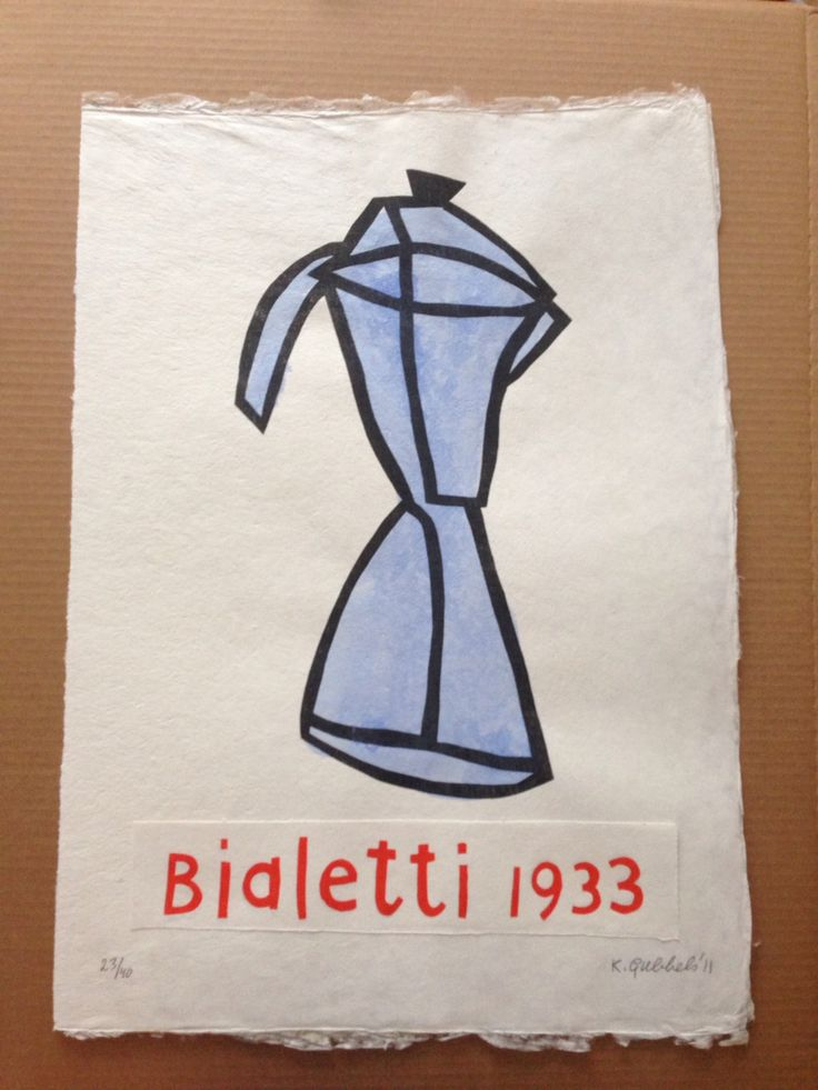 My first Klaas! I am a happy Madam :) Klaas Gubbels - Bialetti 1933, woodprint colored (2011). Bought at Galerie Indruk Den Bosch, NL