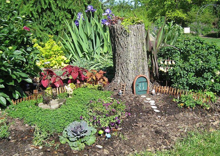 Tree stump for fairy house miniature gardens pinterest for Outdoor fairy doors australia