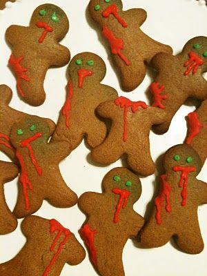 Zombie Gingerbread - for Halloween with sugar cookies.