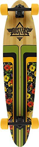 """Dusters Primo II Natural / Tropic Complete Longboard Skateboard - 9"""" x 40"""". Dusters Primo V2 40 Complete Longboard 9x40 Tropic. Slant 150mm reverse kingpin trucks. Dusters Abec 7 bearings. Dusters 70mm x 46mm 83A wheels."""
