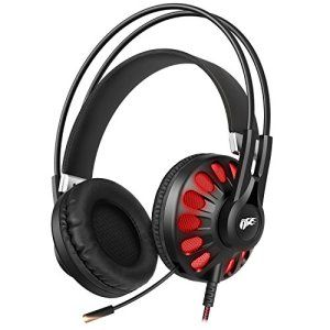 1byone Casque Audio Gaming 7.1 Noir Son Virtuel Surround USB Avec Microphone Intégré et Controle En Ligne Pour PC