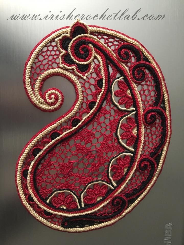 126 besten Irish Crochet Lab Bilder auf Pinterest   Häkelblumen ...