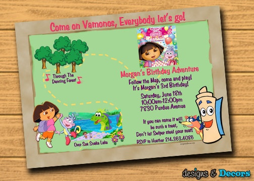 Google Image Result for http://img0-llalt.etsystatic.com/000/0/5965833/il_570xN.248468432.jpgBirthday Parties, Big Birthday, Dora Birthdays Invitations, Dora Maps, Parties Ideas, Invitations Maps, Dora Parties, Maps Invitations, Dora Invitations