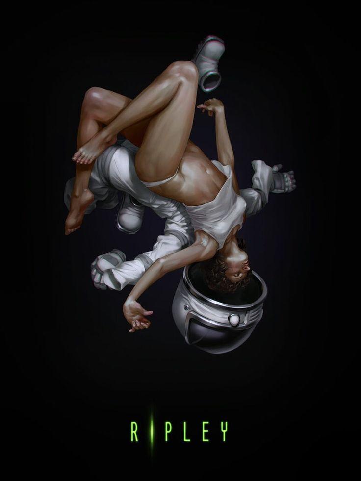 Stunning Ripley artwork by Dmitry Grebenkov  #Alien