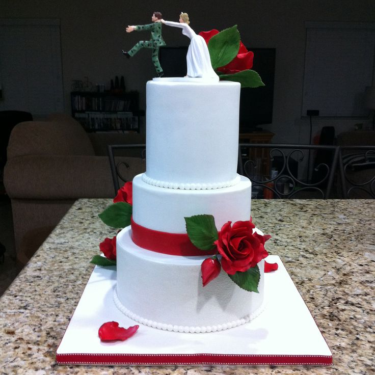 valentine 39 s day wedding cake back view my cakes pinterest. Black Bedroom Furniture Sets. Home Design Ideas