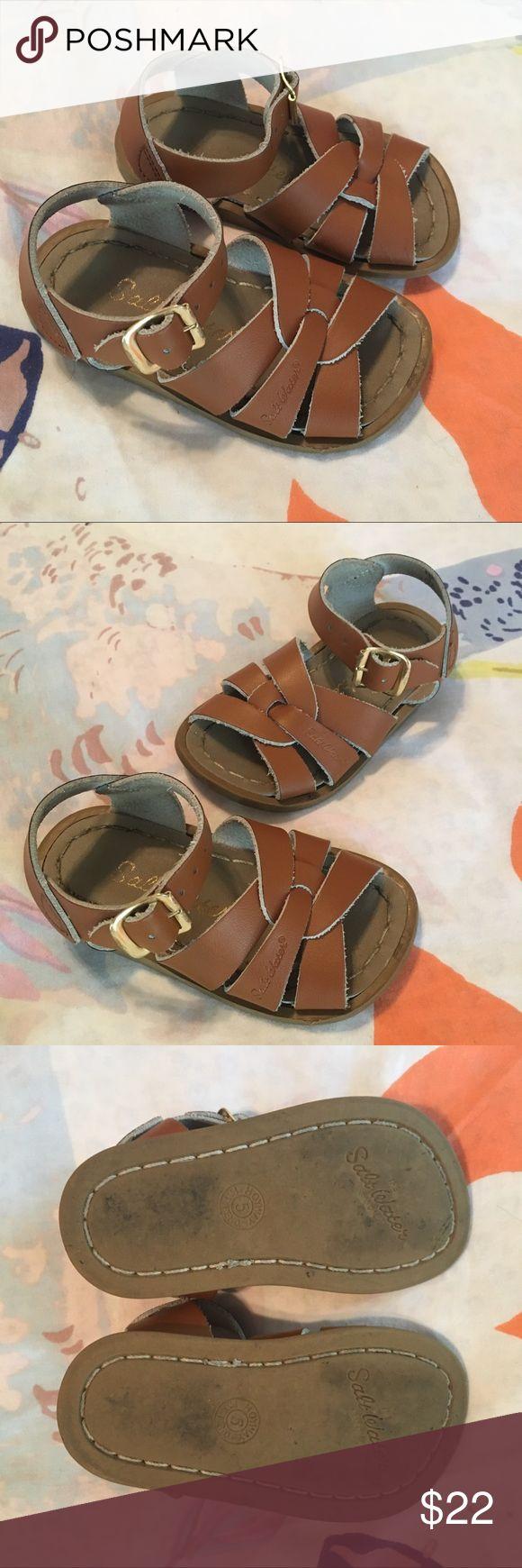Salt water sandals Tan salt water sandals go with everything! Good condition. Salt Water Sandals by Hoy Shoes Sandals & Flip Flops