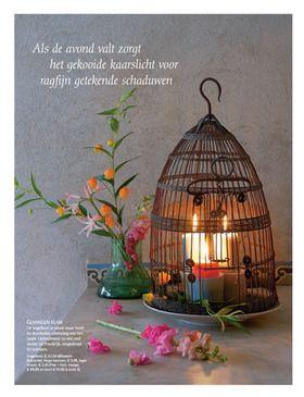 Summer candle light on veranda, september issue Seasons magazine, Netherlands. Styling Linda van der Ham, Photographer Dennis Brandsma.
