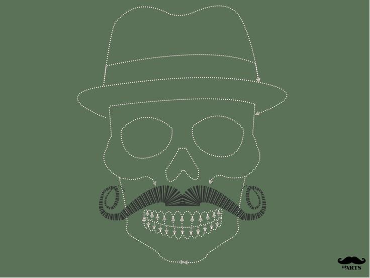 HatMoustaches Skull