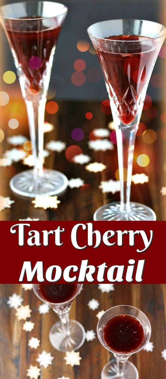 Tart Cherry Mocktail for an alcohol-free, healthy beverage to celebrate any day of the year. This recipe is sugar-free and uses the superfood tart cherry juice. www.carrieonliving.com/