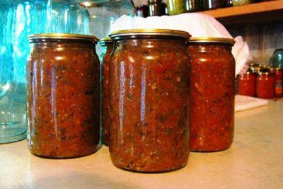 Рецепт икры из баклажанов и кабачков на зиму.