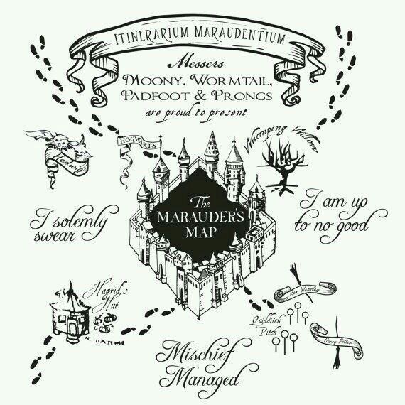 SockletWorld: Making the Marauder's Map |Marauders Map Drawing