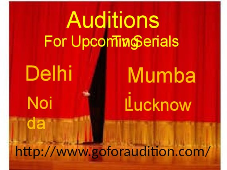 Goforaudition provides updates of all upcoming auditions along with dates and locations so that strugglers can consume their time. We create awareness among actors so that they can participate in genuine Auditions For Upcoming TV Serials. We provide a right platform to winnable actors to stay away from casting agents who seek any type of payment upfront or otherwise for an audition. Stay registered at our site http://www.goforaudition.com/ and gets invited for several genuine auditions which…