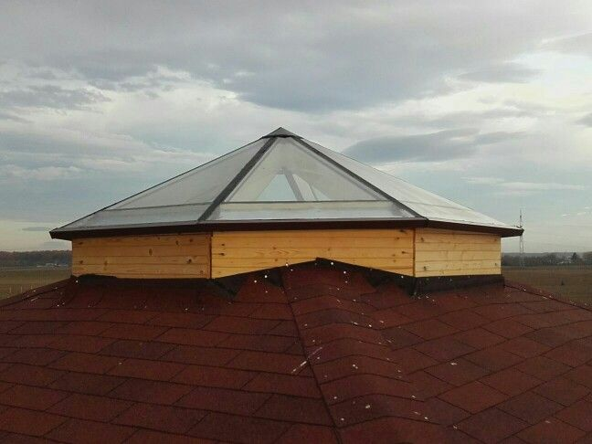 Octagonal skylights with thermal break