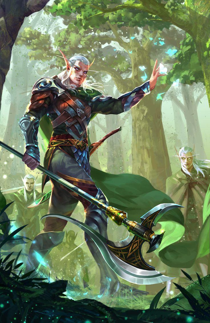 ArtStation - Elf axe warrior, Chen Xiao