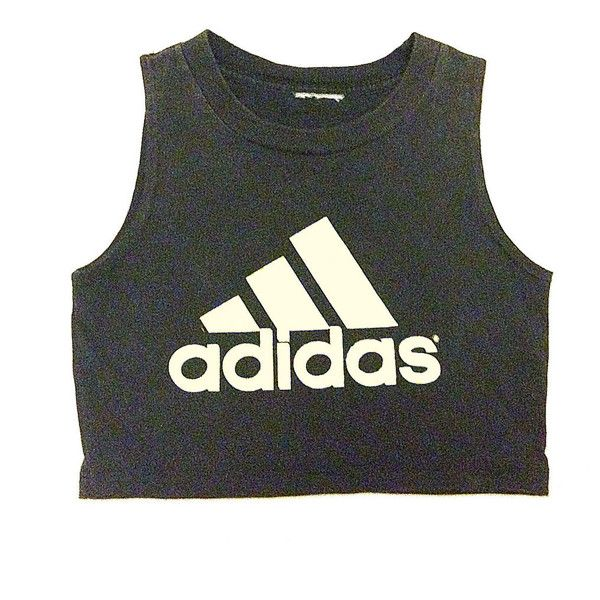 Recycled Adidas ❤ liked on Polyvore featuring tops, shirts, crop tops, tanks, tank top, women tops, henley tank, adidas shirt and crop tank