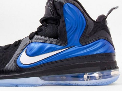 blue and grey foamposites lebron james shoes high tops