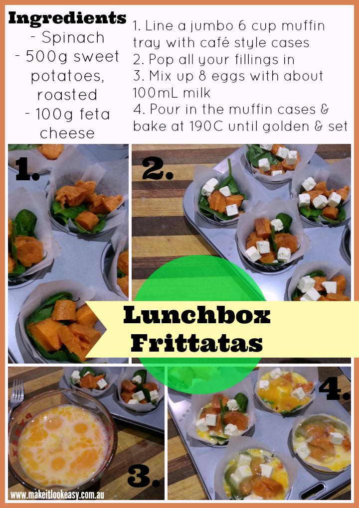Lunchbox Frittatas   #lunchboxideas #easymeals