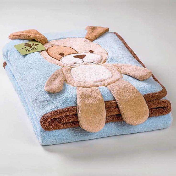 Cobertor em Microfibra Cachorro- RMC Home Baby 1209 - Azul - Roupa bebê e roupa infantil é na loja virtual da 764 Kids
