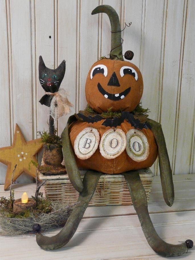 Brand NEW 2008 BOO Pumpkin Man and Cat E PATTERN Boo