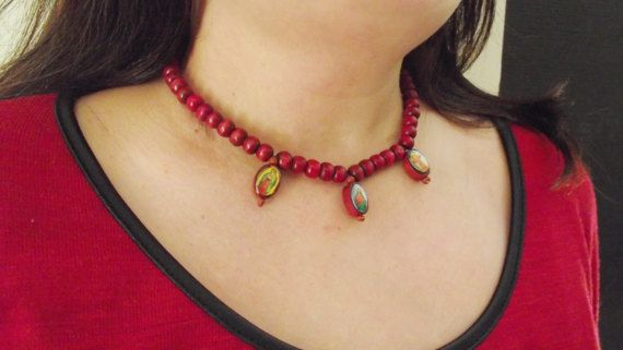 Necklace with icons by MaryLooGifts on Etsy