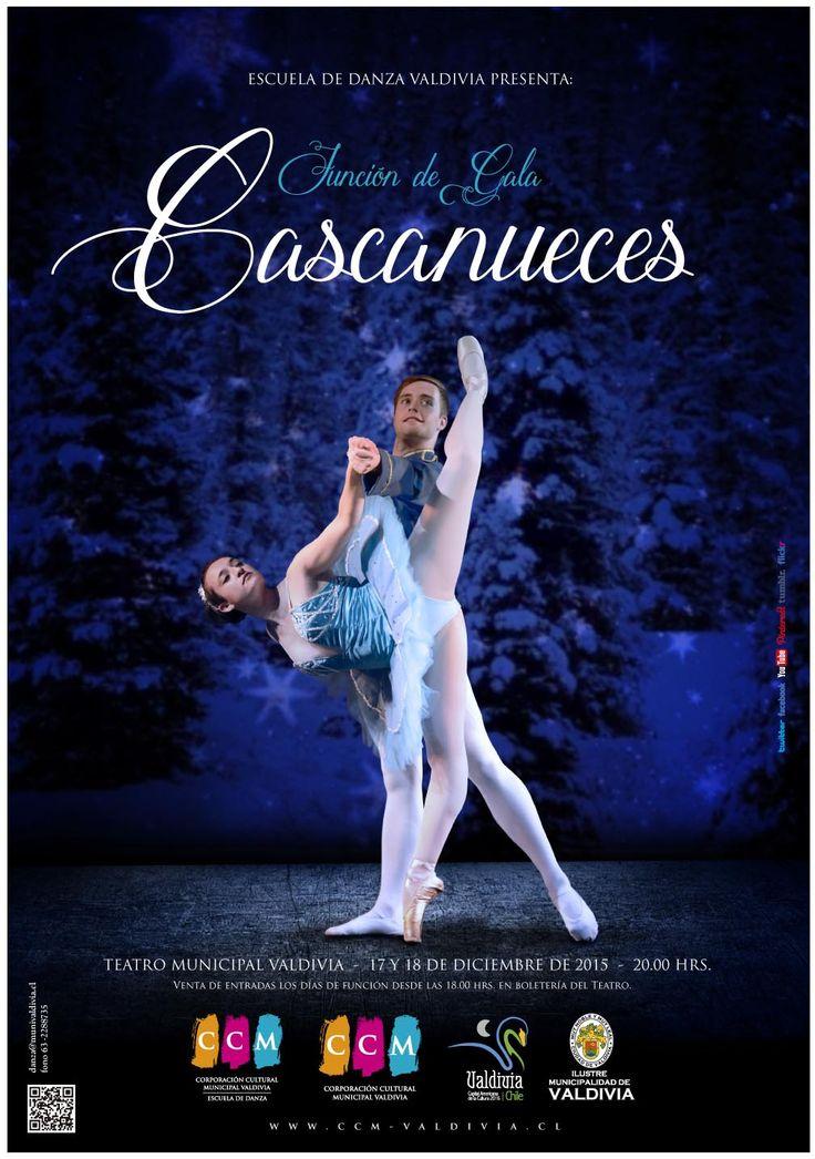 Afiche Función de Gala Cascanueces. Escuela de Danza de Valdivia. 2015