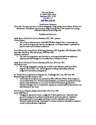 rn objective resume