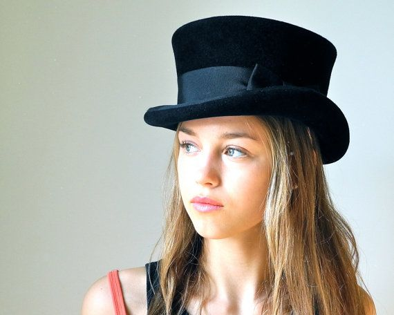 Top Hat Black Top Hat Victorian Riding Hat Men by katarinacouture, $250.00