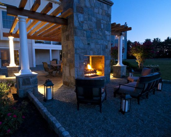17 best images about double sided fireplaces on pinterest for Double sided open fireplace