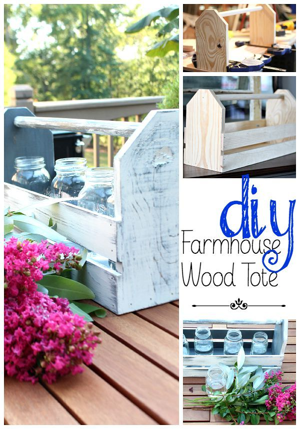 How to make a wood tote, easy DIY