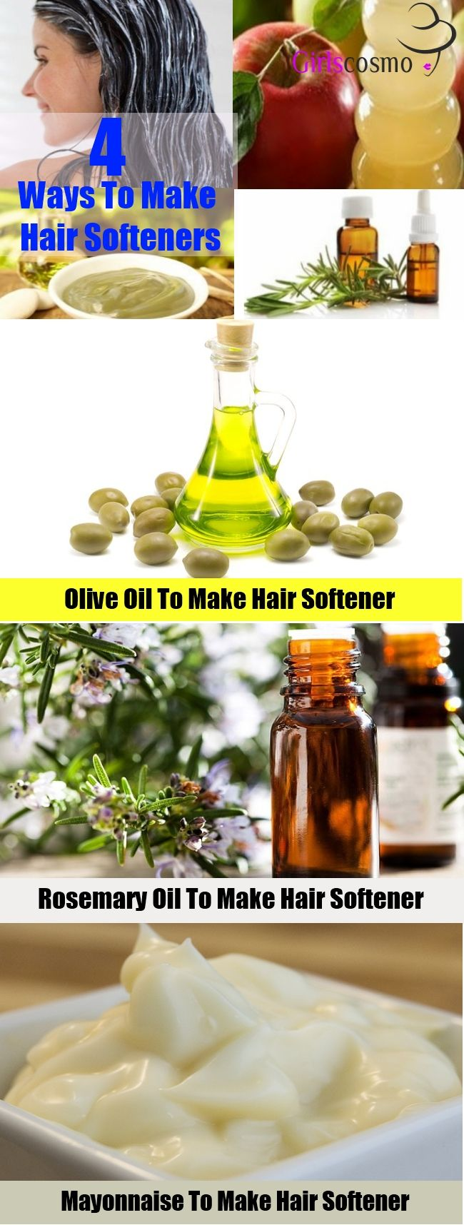 4 Tips To Make Hair Softeners At Home