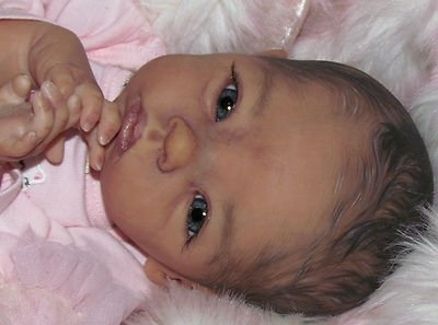New and Used REBORN BABY GIRL AZLIN BRITT AA ETHNIC BIRACIAL PREEMIE DOLL SPANISH LE 500 3D for Sale - Heat.net Store