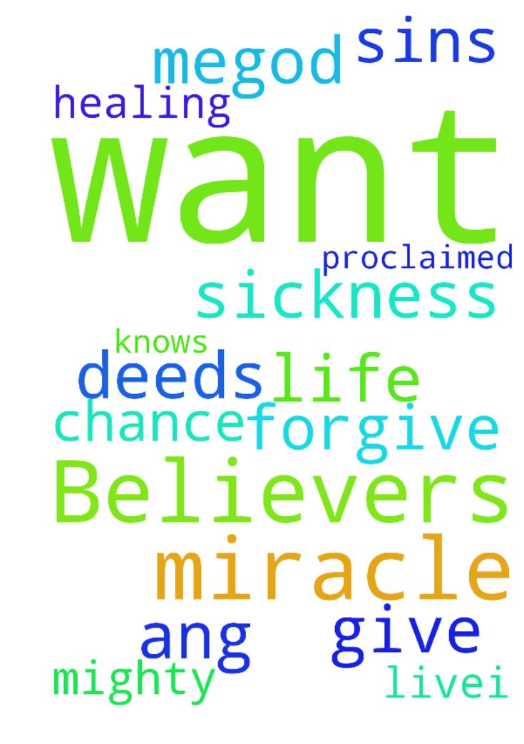 Dear Believers in Christ.... Here I want you to pray - Dear Believers in Christ.... Here I want you to pray for the miracle healing in me..God knows my sickness I want Gods miracle in my life ...I will proclaimed his mighty deeds if he forgive my sins ang if he give me a chance to live...I need your prayer ...Amen Posted at: https://prayerrequest.com/t/O8y #pray #prayer #request #prayerrequest