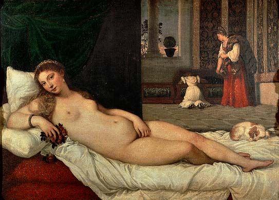 La Venere di Urbino by Tiziano, Uffizi Gallery Florence